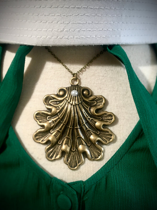 Victorian Sea Shell Necklace