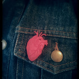 Human HEART wooden - PIN