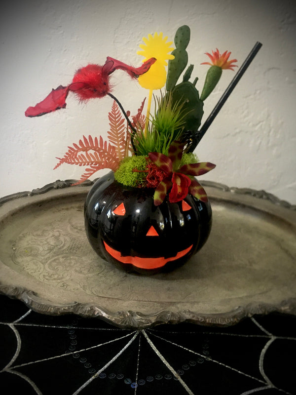 """Gone Batty""  - Halloween Tiki Cocktail Plant"