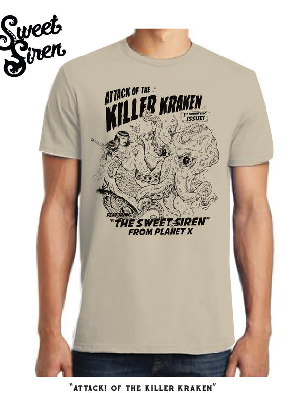 Attack of the Killer Kraken! Men's tee SALE