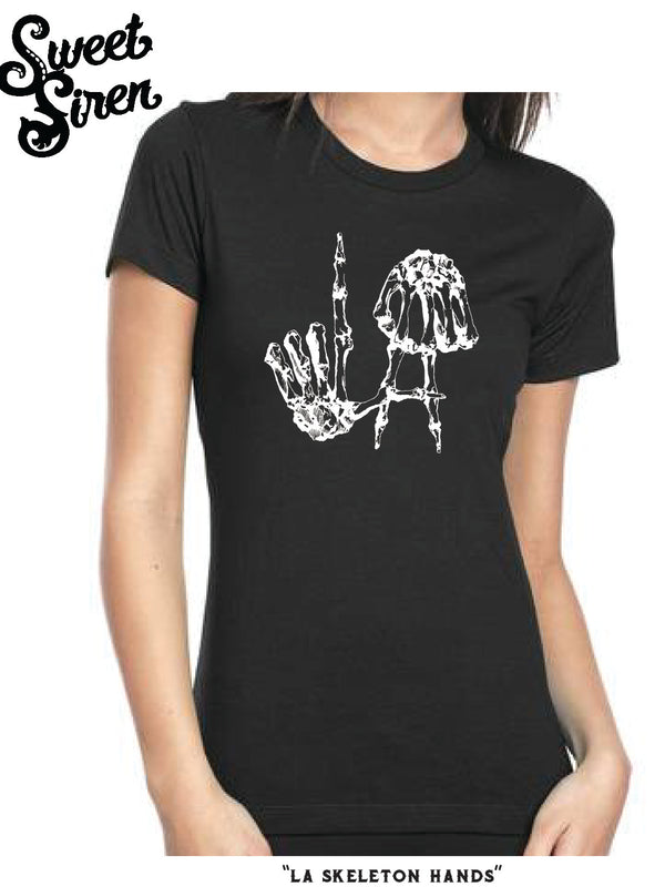LA SKELETON HANDS - Womens Tee