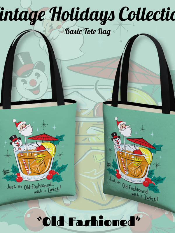 Old Fashioned with a Twist - Basic Tote - Retro Mint