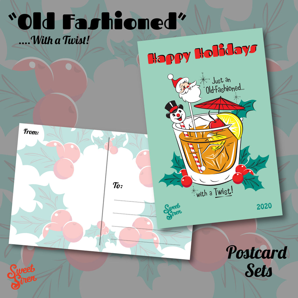 Old Fashioned - Postcard SET of 4