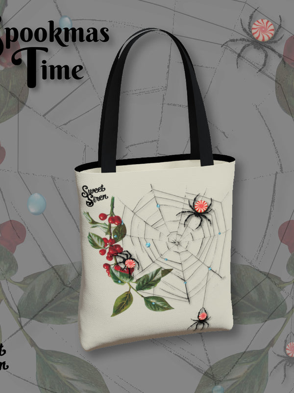 Peppermint Spiders Web - Basic Tote