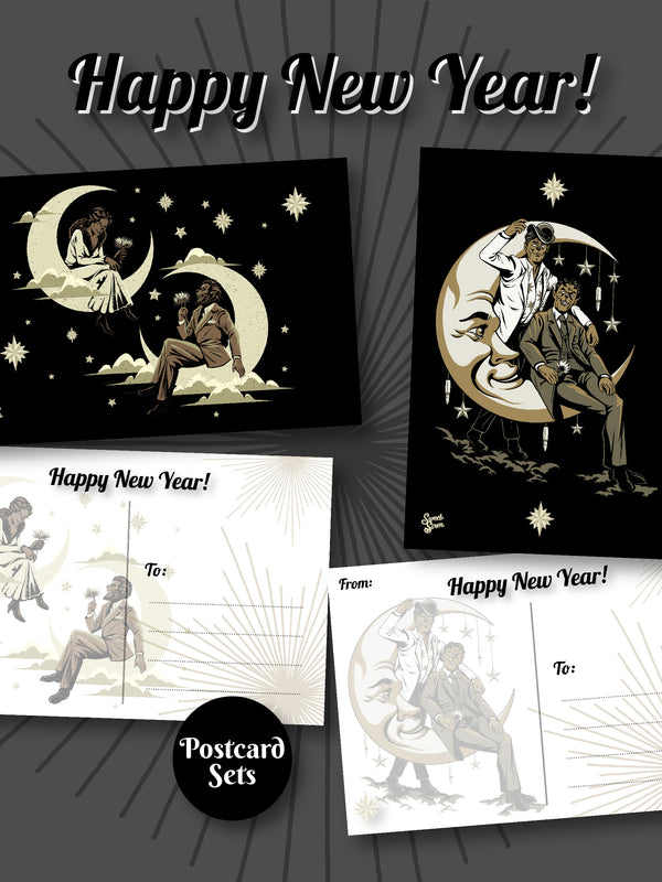 Queens of the Night - Werewolf Postcard MULTI DESIGN SET of 4