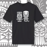 Franky & Bride Tiki Monsters - White Ink - Unisex tee
