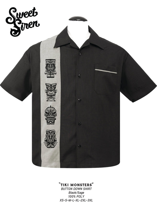 Tiki Monsters Button Up Shirt - SALE!