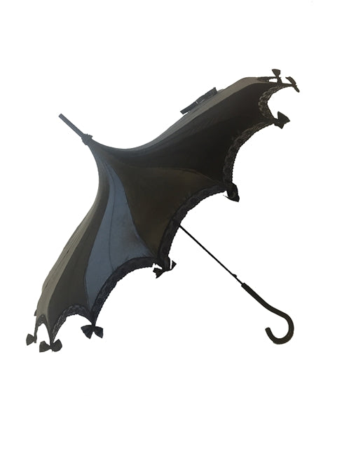 Black Satin Umbrella