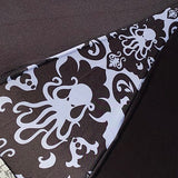 Tiki Octopus Damask Umbrella