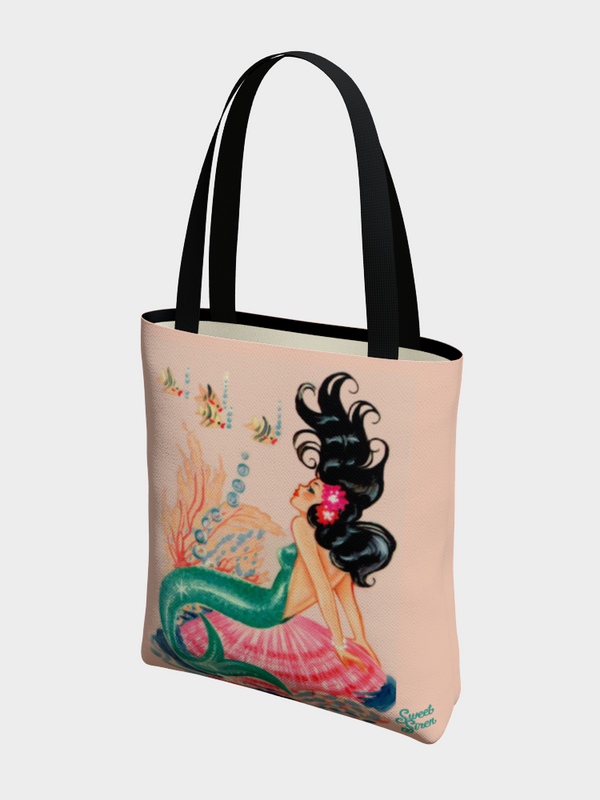 60's Mermaid Starlet - Basic Tote