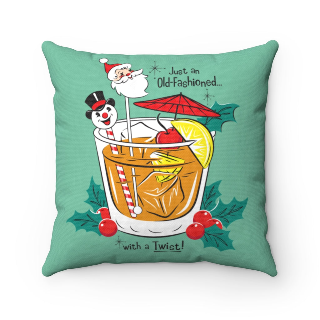 Old Fashioned -  FULL Pillow - Retro Mint