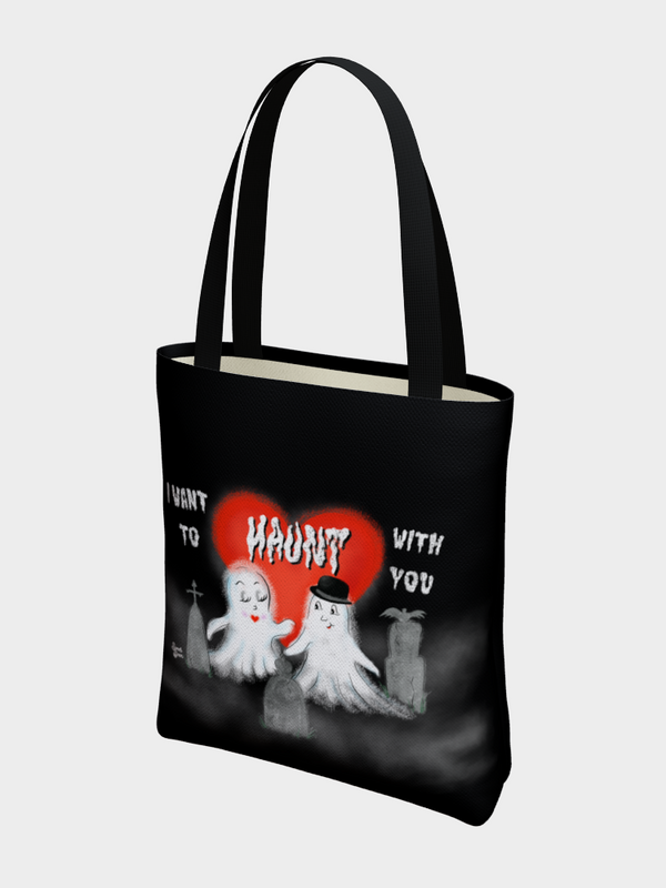 I Want to Haunt with You - BASIC Tote Bag