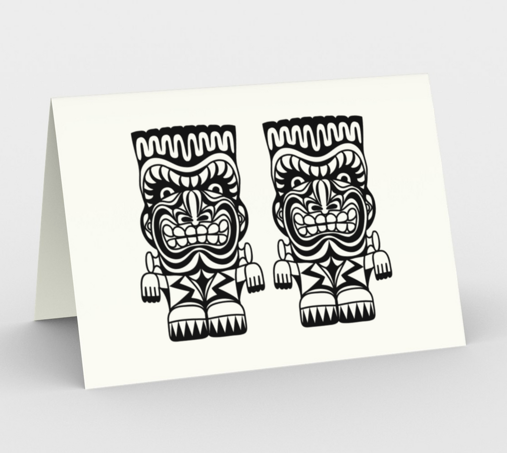 Double Frankenstein Tiki Monsters - CARDS Set of 3