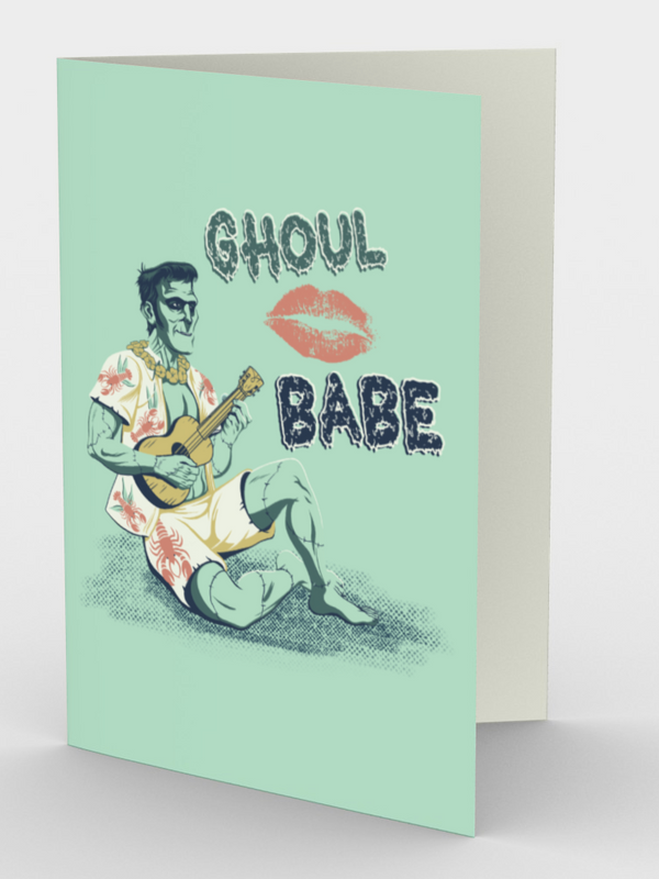 Ghoul Babe Frankenstein Monster - CARDS Set of 3