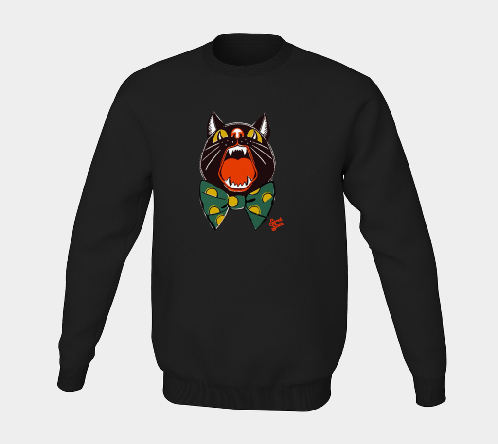 Howling Cat - Pull Over Unisex Sweatshirt