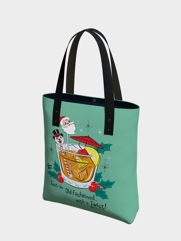 Old Fashioned with a Twist - Urban Tote - Retro Mint