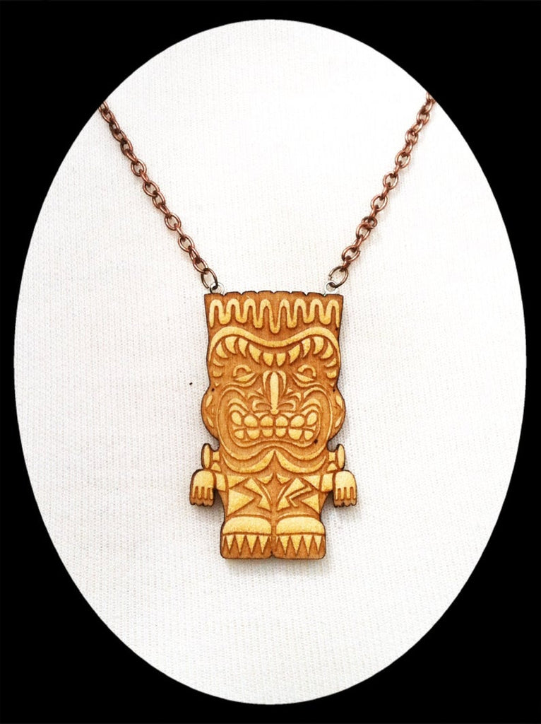 Frankenstein Monster Tiki Necklace- Small