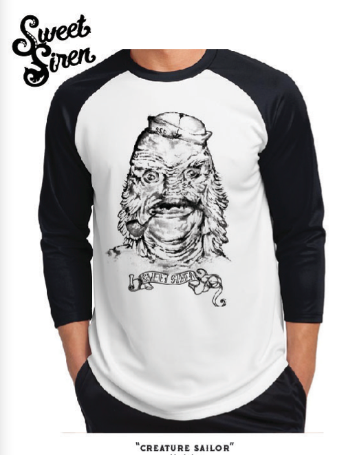 Creature Sailor Unisex Baseball tee