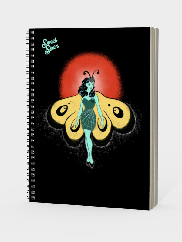 Moth Dancer - Spiral Notebook