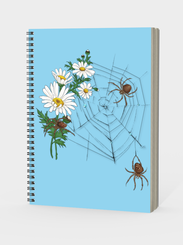 Daisy Spider Web - Notebook