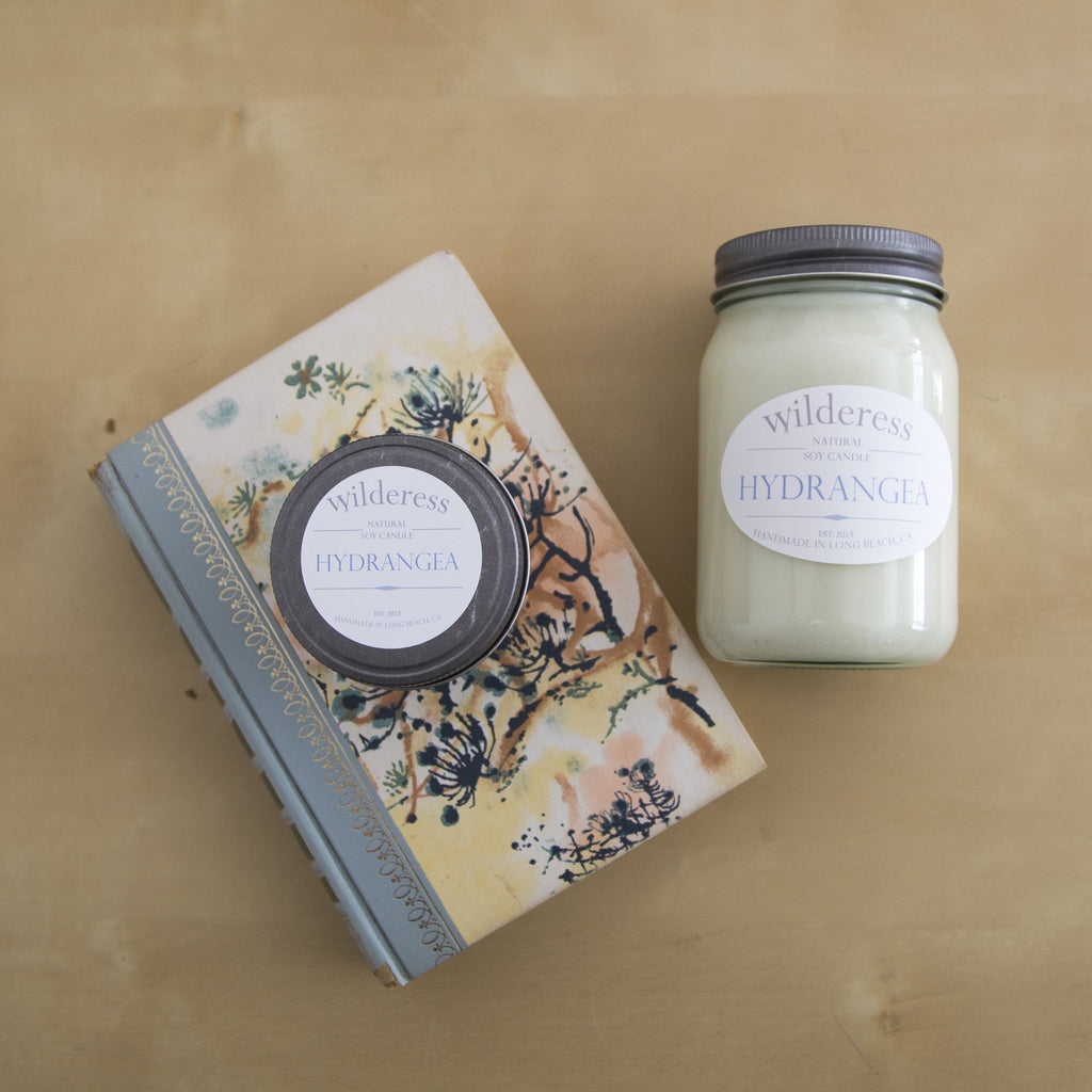 Hydrangea Soy Candle