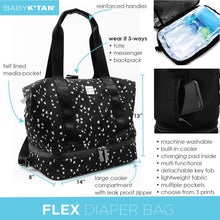 Load image into Gallery viewer, Baby K'Tan Flex Convertible Diaper Bag - Sweetheart - Posh Baby Co.