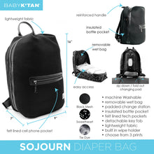 Load image into Gallery viewer, Baby K'Tan Sojourn Backpack Diaper Bag - Mesh Black - Posh Baby Co.