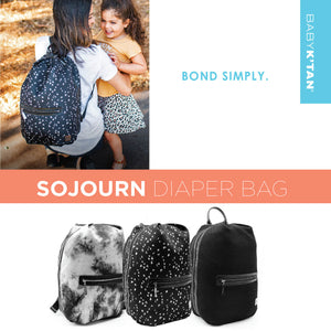 Baby K'Tan Sojourn Backpack Diaper Bag - Mesh Black - Posh Baby Co.