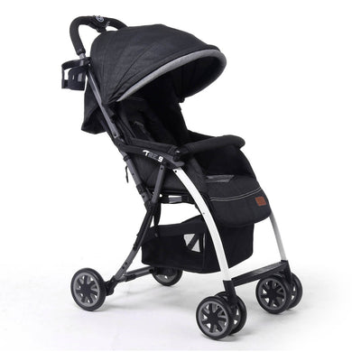 Pali Tre.9 Denim Attitude Stroller - Los Angeles Black - Posh Baby Co.