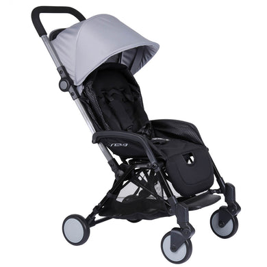 Pali Sei.9 Compact Travel Stroller - Montreal Gray - Posh Baby Co.