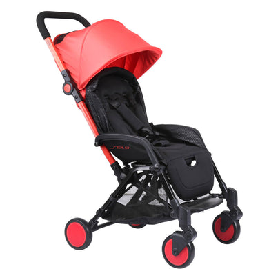 Pali Sei.9 Compact Travel Stroller - Toronto Red - Posh Baby Co.