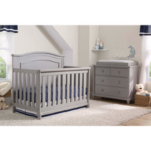 Load image into Gallery viewer, Delta Children Simmons Kids Belmont 5-Piece Baby Nursery Furniture Set - Grey - Posh Baby Co.