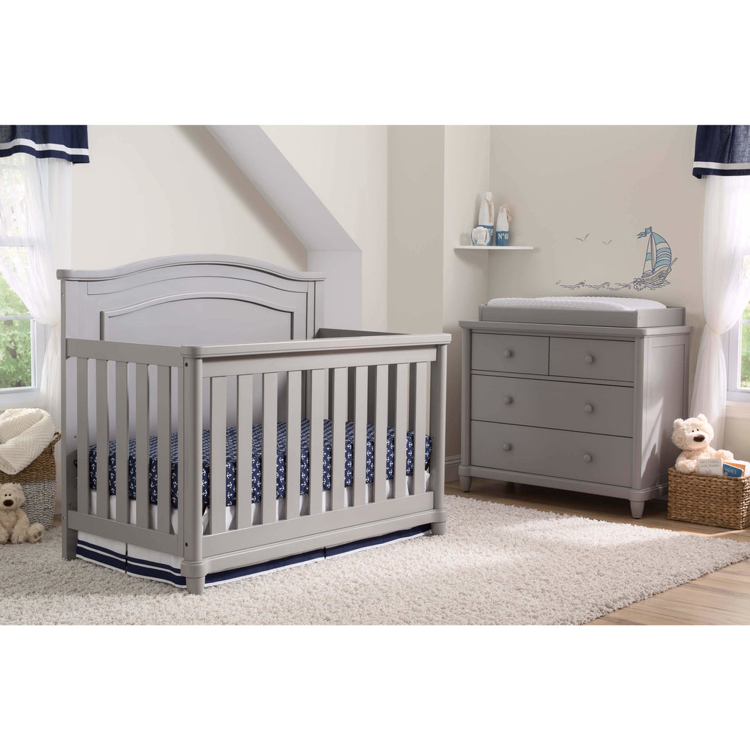 Delta Children Simmons Kids Belmont 5-Piece Baby Nursery Furniture Set - Grey - Posh Baby Co.