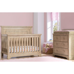 Delta Children Simmons Kids Paloma 5-Piece Baby Nursery Furniture Set - Rustic Driftwood - Posh Baby Co.