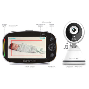 Summer Infant Baby Pixel® Zoom HD™ Duo 5.0 Inch High Definition Video Monitor - Posh Baby Co.