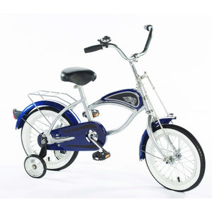"Morgan Cycle 14"" Retro Cruiser Bike with Removable Training Wheels - Blue"