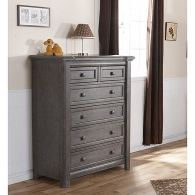 Pali Cristallo 5-Drawer Dresser in Granite - Posh Baby Co.