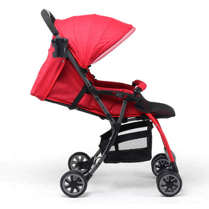 Pali Tre.9 Denim Attitude Stroller - Miami Red - Posh Baby Co.