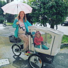 Load image into Gallery viewer, Taga 2.0 Family Cargo Bike Royal Canopy - Posh Baby Co.