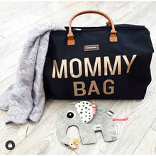Load image into Gallery viewer, Mommy Bag - Big Black and Gold - Posh Baby Co.