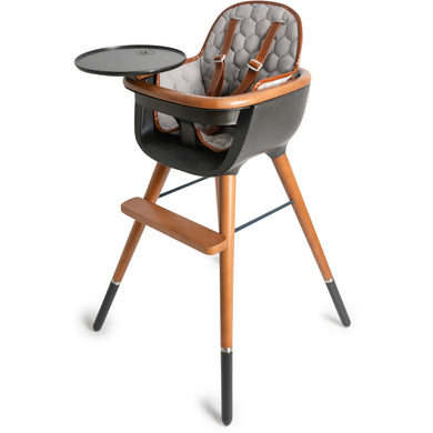 Micuna OVO City High Chair With PU Leather Belts and Seat Pad - Posh Baby Co.