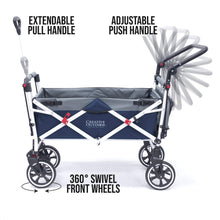 Load image into Gallery viewer, Titanium Series Stroller Wagon - Navy Blue - Posh Baby Co.