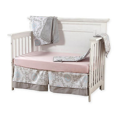 Pali Stella 4-Piece Crib Bedding Set - Pink Sheet - Posh Baby Co.