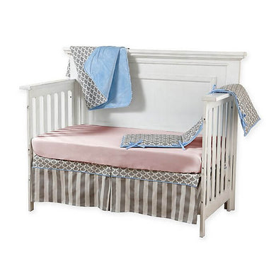 Pali Sogno 4-Piece Crib Bedding Set - Pink Sheet - Posh Baby Co.