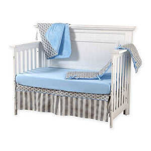 Pali Sogno 4-Piece Crib Bedding Set - Blue Sheet - Posh Baby Co.