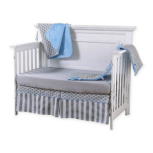 Pali Sogno 4-Piece Crib Bedding Set - Grey Sheet - Posh Baby Co.