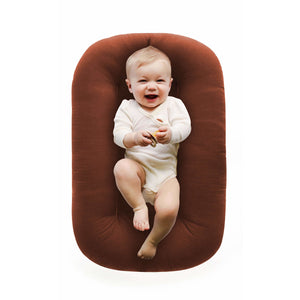 Snuggle Me Organic Bare Lounger - Gingerbread - Posh Baby Co.