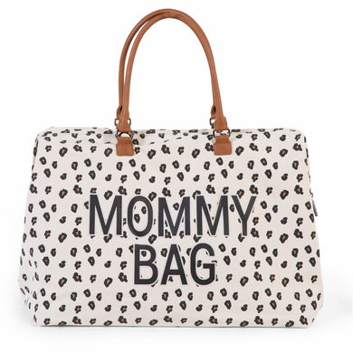 Mommy Bag - Big Canvas Leopard - Posh Baby Co.
