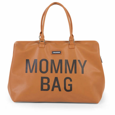 Mommy Bag - Leather Cognac Brown - Posh Baby Co.