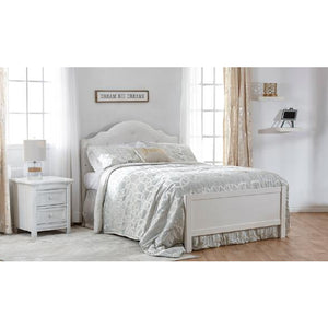 Pali Cristallo  Full Size Bed Conversion Rail in Vintage White - Posh Baby Co.
